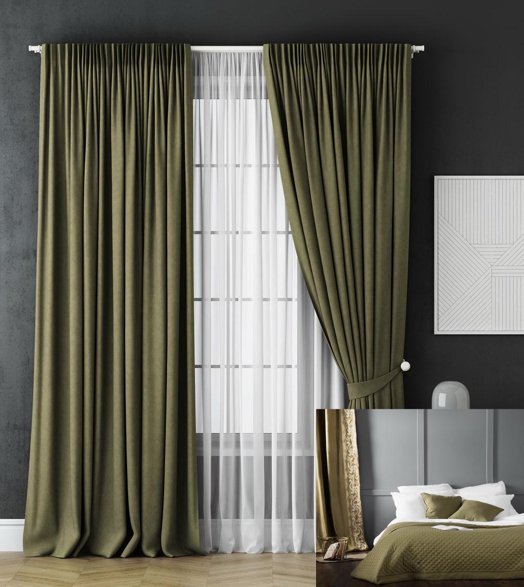 серо зеленые шторы фото большое разнообразие